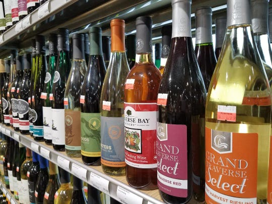 Michigan-based Plum Markets have section featuring state wines.