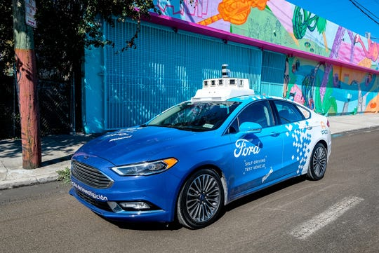 Ford Motor Co. and its partner, Argo AI, navigate the unpredictable downtown streets of downtown Miami in a self-driving vehicle.