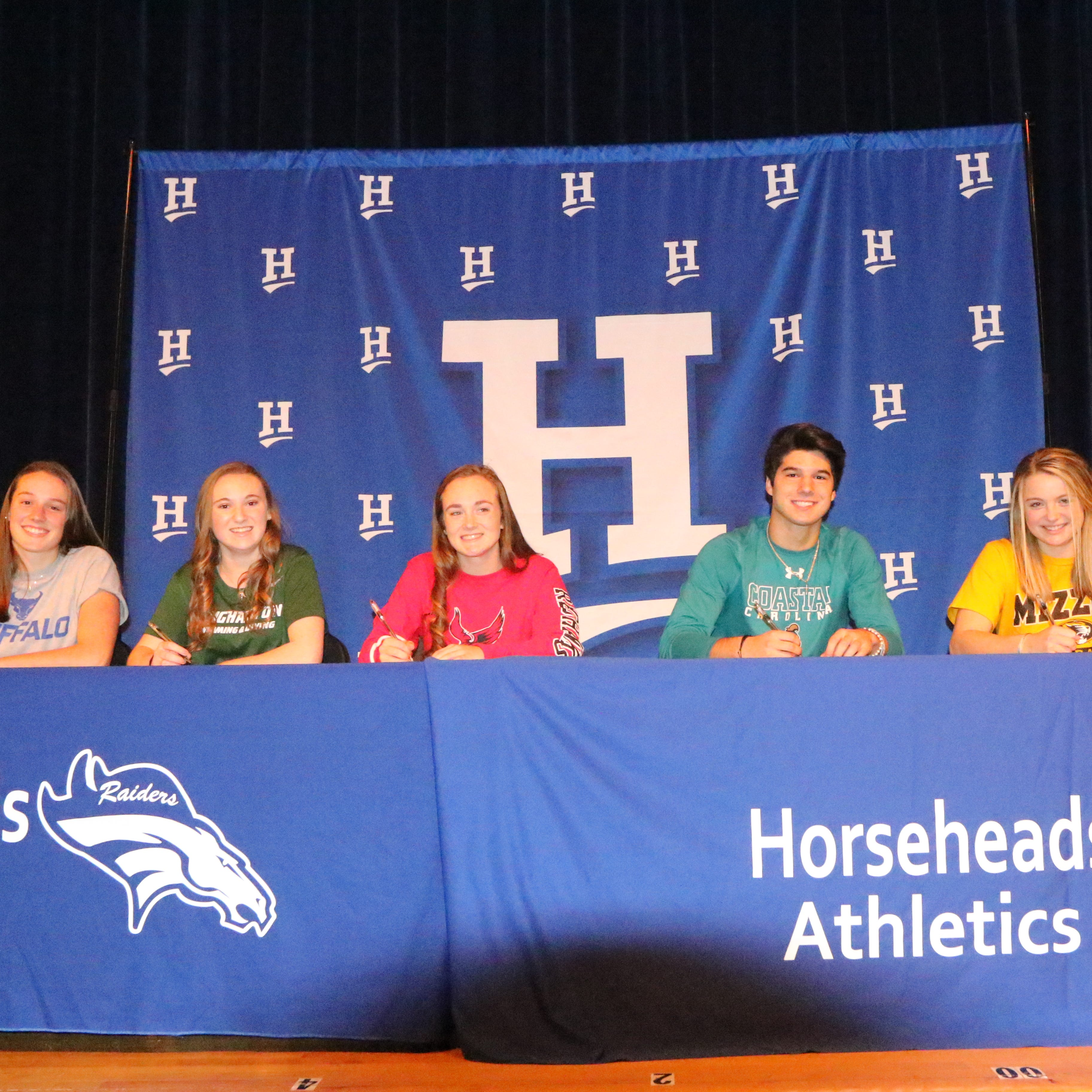 Five Horseheads athletes sign with college programs
