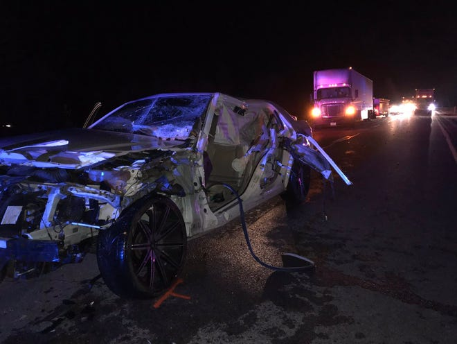 A 21-year-old man was killed in a two-vehicle crash on I-64 in northern Warrick County on Tuesday, Nov. 13, 2018.