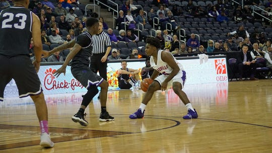 Evansville point guard Shamar Givance also had three assists in 11 minutes in the exhibition win over New Mexico Highlands.