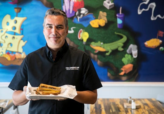 Steven Brown-Cestero is the franchise owner of The American Grilled Cheese Kitchen that recently opened on Six-Mile Cypress Parkway in south Fort Myers.