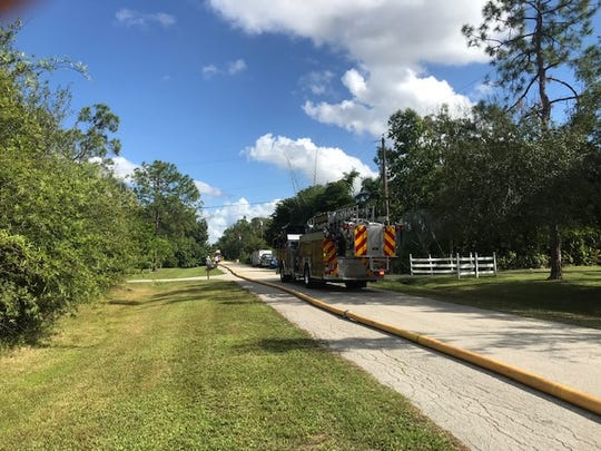 The lack of fire hydrants in a south Fort Myers neighborhood forced firefighters to lay about a third-mile of hose to fight a fire at a home on Julip Court in south Fort Myers on Wednesday afternoon