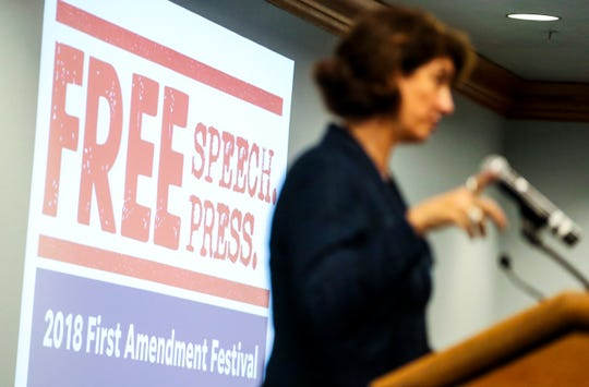 NPR's Mara Liasson was the keynote speaker at the 2018 First Amendment Festival held at FGCU. She spoke about politics in America to a large crowd Tuesday evening, November 13, 2018.