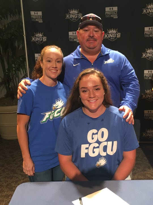 SFCA softball catcher Abby Thomas signed with FGCU during a National Signing Day ceremony at SFCA on Wednesday, Nov. 14.