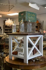 Farmhouse 44's aesthetic focuses on primitive country antiques, and the inventory turns over often.