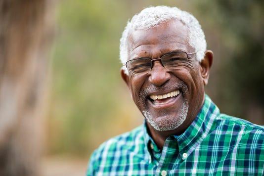 African American Senior Man In Nature Portrait