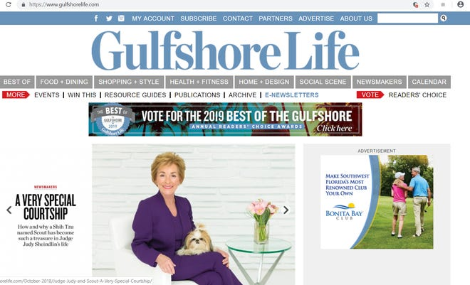 Nov. 14 screen grab of Gulfshore Life magazine's online edition.