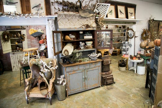 Farmhouse 44 has a blend of farmhouse chic vintage finds, plus new scented candles, decorative items and knickknacks.