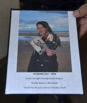 The photo Karlee Horlacher had made for her grandfather, Ret. U.S. Army 1st Sgt. Lloyd Nimmer of Kewaunee.