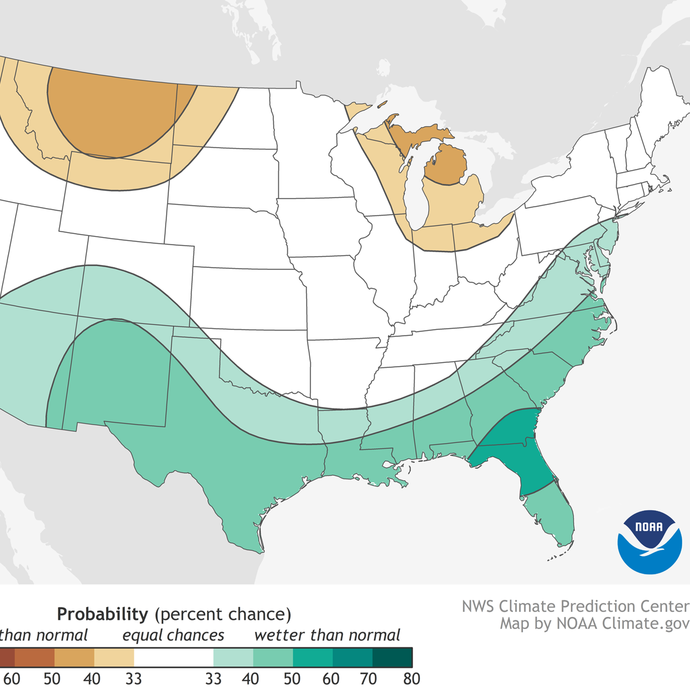 Meteorologists predict wetter-than-normal winter in the Southeast; temperatures uncertain