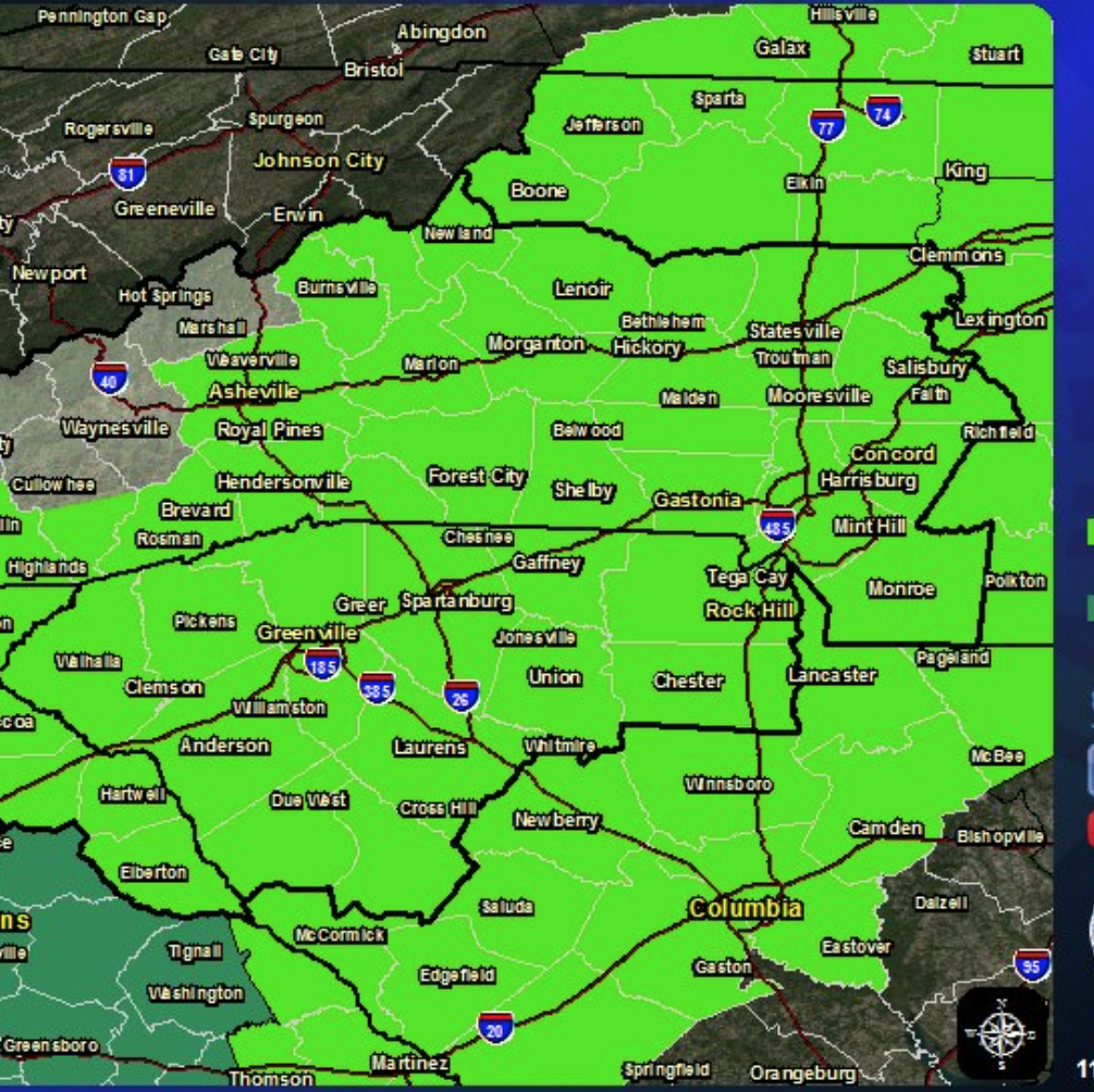 In some parts of Greenville County, a possibility of floods, freezing rain and sleet