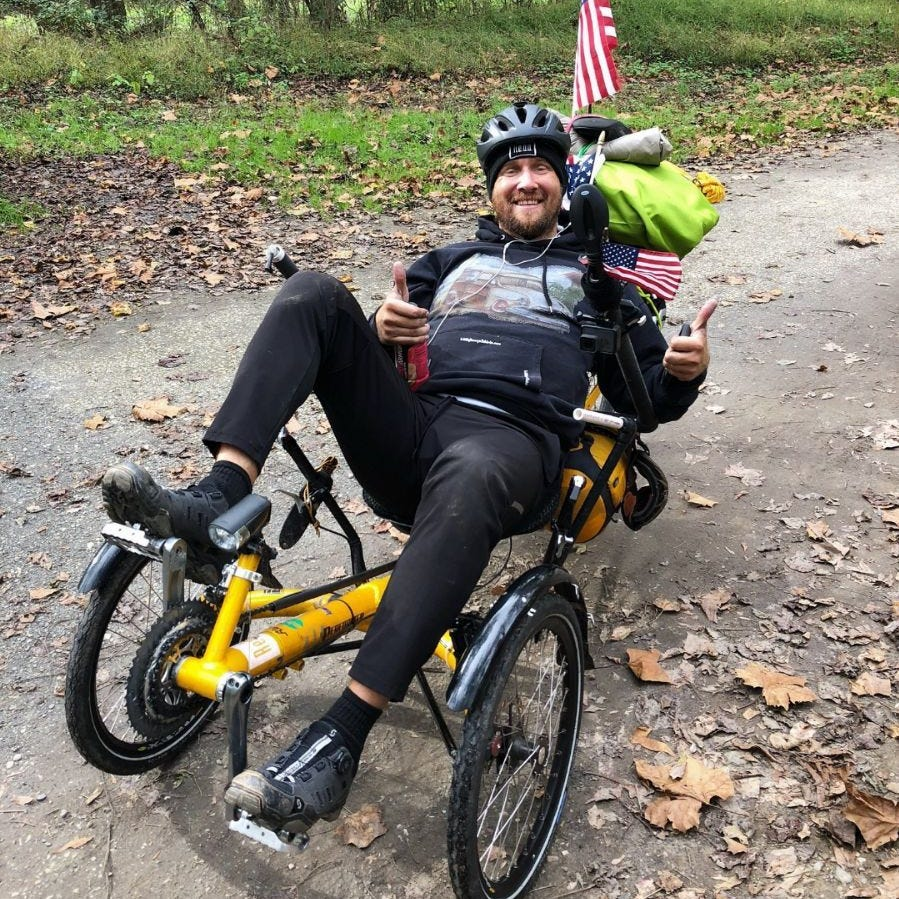 Cyclist biking across US to raise money for childhood cancer killed in Mississippi