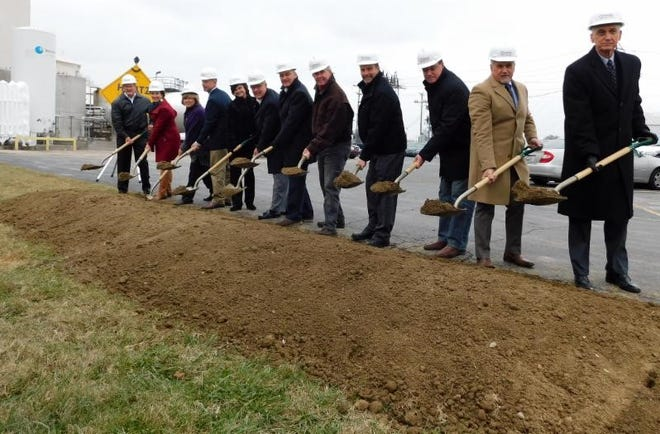 Officials break ground Tuesday on a major expansion for the Henderson Nylene plant.