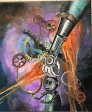 """Fatherly Love"" by Cynthia Watson is part of the OVAL Steampunk'd exhibit."