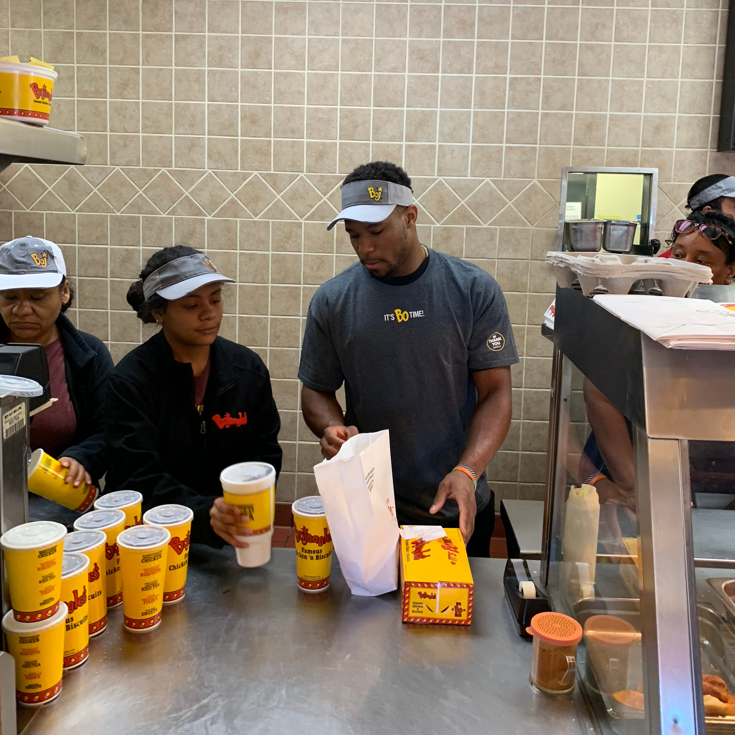 """Stressful, man,"" is how Colts running back Nyheim Hines describes working in the fast-food industry. ""People want what they want."""