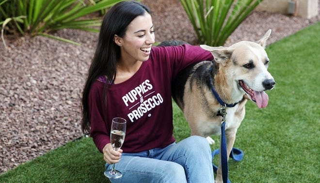 Puppies and prosecco