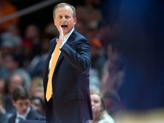 Tennessee head coach Rick Barnes during the game against Georgia Tech on Tuesday, November 13, 2018.
