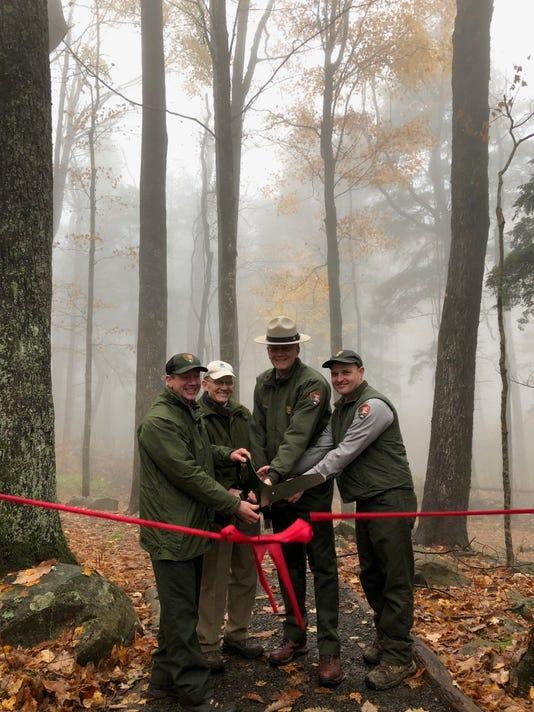 Park And Friends Cut Ribbon On Rainbow Falls Trail