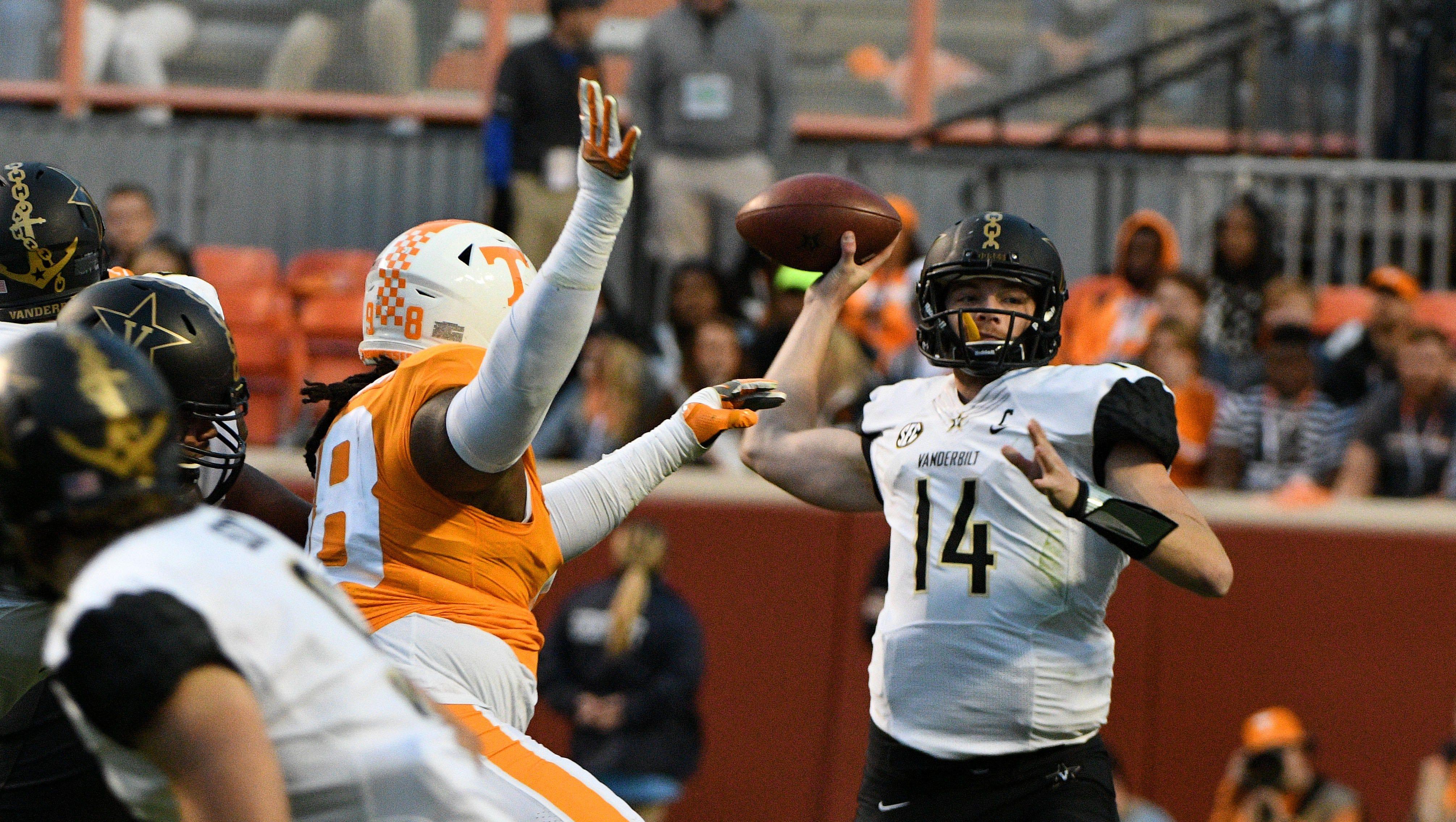 UT Vols have to deal with Vanderbilt's Kyle Shurmur next