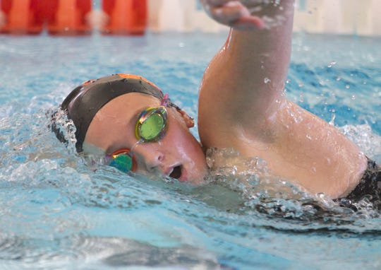 The transfer of senior Maddie Mince from Hartland has strengthened Brighton's swim team.