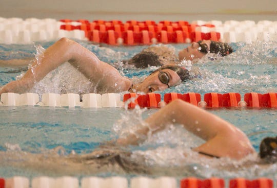 Brighton swimmers prepare for this weekend's state meet at Eastern Michigan University.
