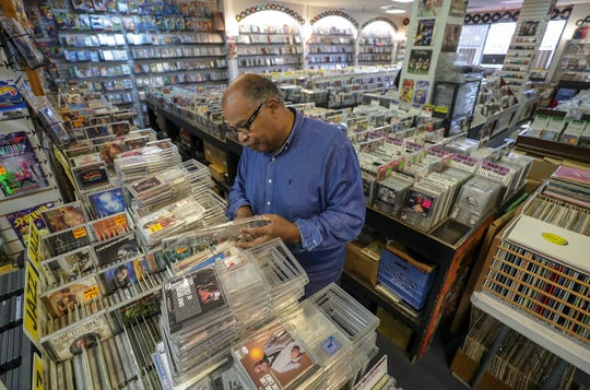 Howard Saffel drives to Better Days West record store in west Louisville from St. Matthews just to see if he can find a gem among the stacks of CDs and vinyl records.November 7, 2018