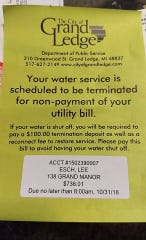 Lee and Katie Esch received a water-shut off warning as they struggled to find out why their water bill climbed to $2,700.