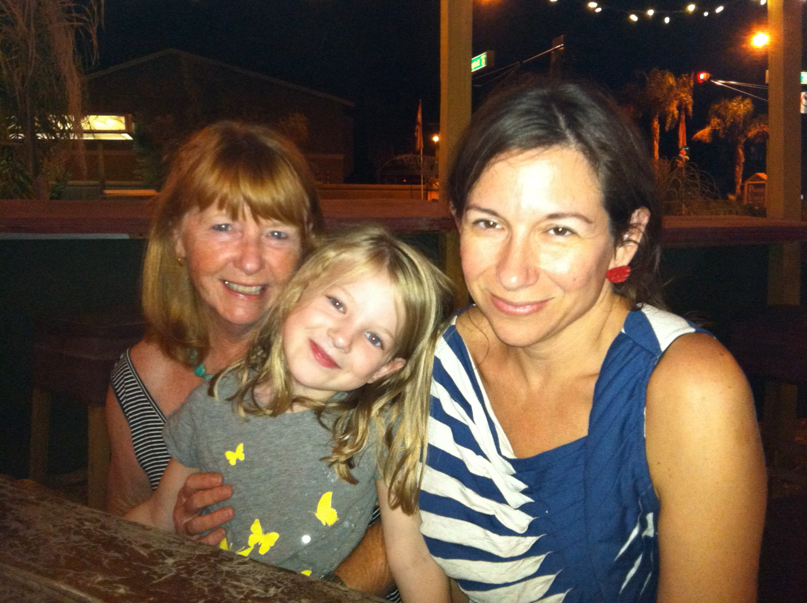 Sometimes when it feels overwhelming that my mom is gone, I look at Lucy. So much of my mother is in her. This is a good memory of her with Lucy and me at one of our favorite Mexican food spots in Phoenix.