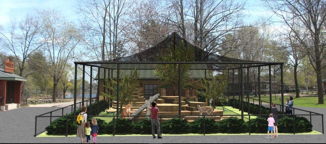 A rendering of the revamped plans for the cougar exhibit at Wildwood Zoo in Marshfield.