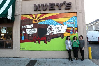 Sisters behind Huey's talk about the family business