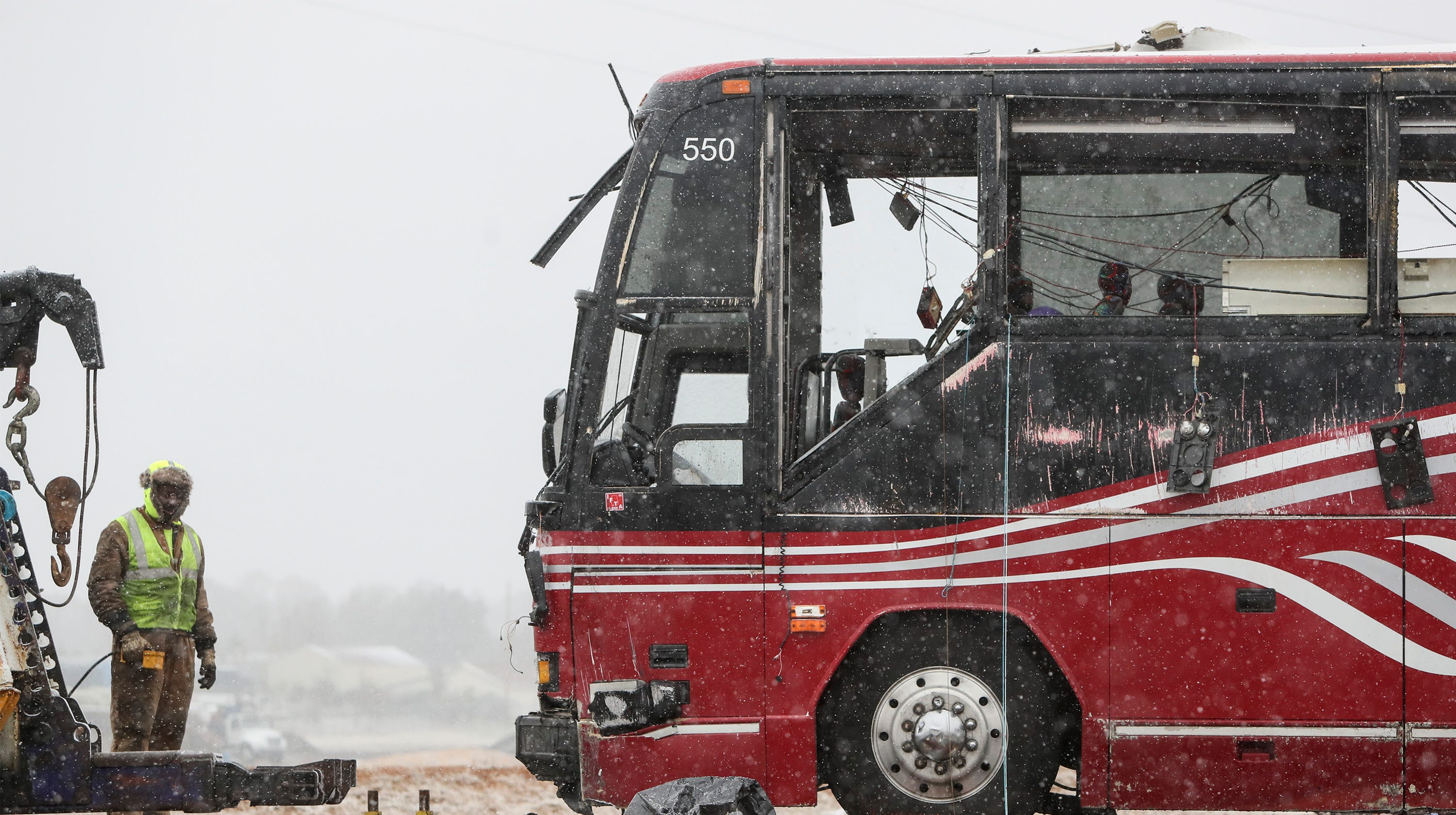 Mississippi tour bus crash: 2 confirmed dead, 44 injured on