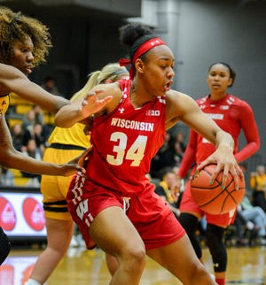 Badgers sophomore Imani Lewis started 30 games in 2018-19 and averaged 12.2 points and 7.6 rebounds. She will be one of the key players to watch on head coach Jonathan Tsipis' team this season.