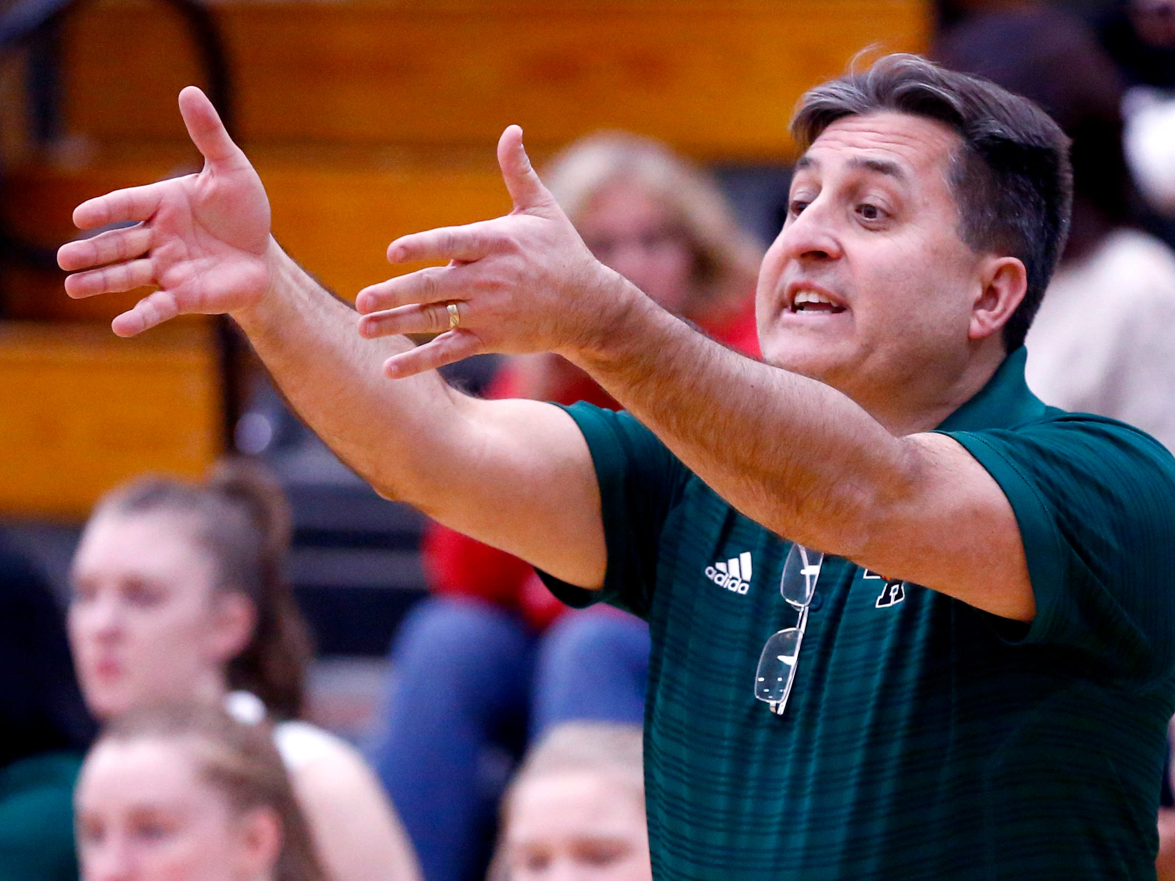 West Allis Hale Girls Basketball Coach George Sotiros at Hale on Nov. 13