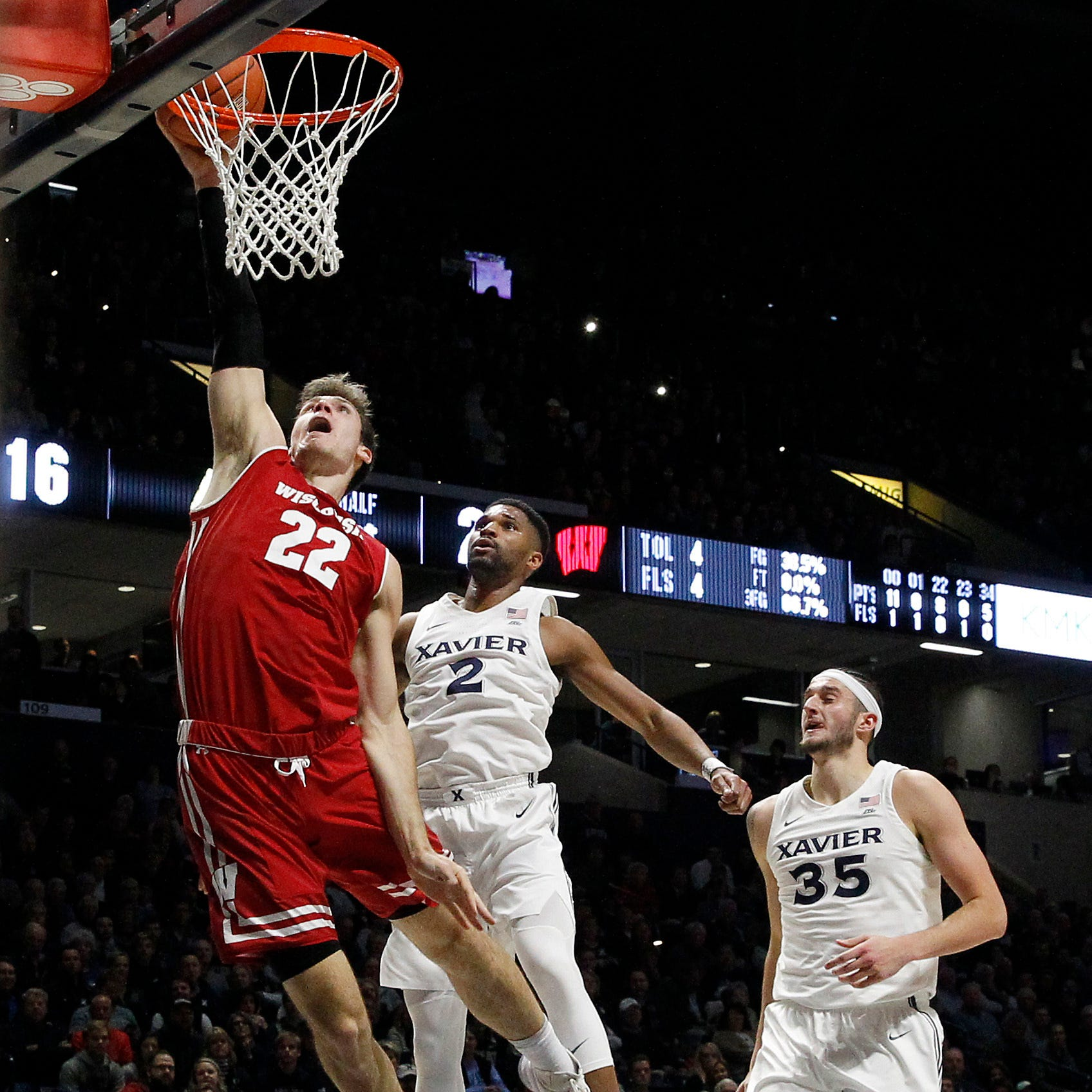 UW 77, Xavier 68: Ethan Happ, D'Mitrik Trice and Brad Davison carry the load