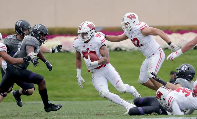 Outside linebacker Zack Baun has made several big plays in the Badgers' last three games, including an interception against Northwestern.