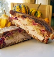 Marble rye is the base for this hot turkey sandwich created by Larry's Market chef Jim Cook.