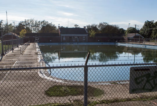 Named after former Parks and Recreation Director, the R. D. Swayze Natatorium sits abandoned and derelict in the center of Forsythe Park in Monroe, La. on Nov. 6. Work on the pool began in 1935 and was completed in 1938 through funding from the Works Progress Administration. The natatorium remained in continuous operation until 1999 when the the pool didn't open due to cracks which developed on the pool floor. While the city had initial intentions of fixing the pool and returning it to operation, no work has yet been performed.