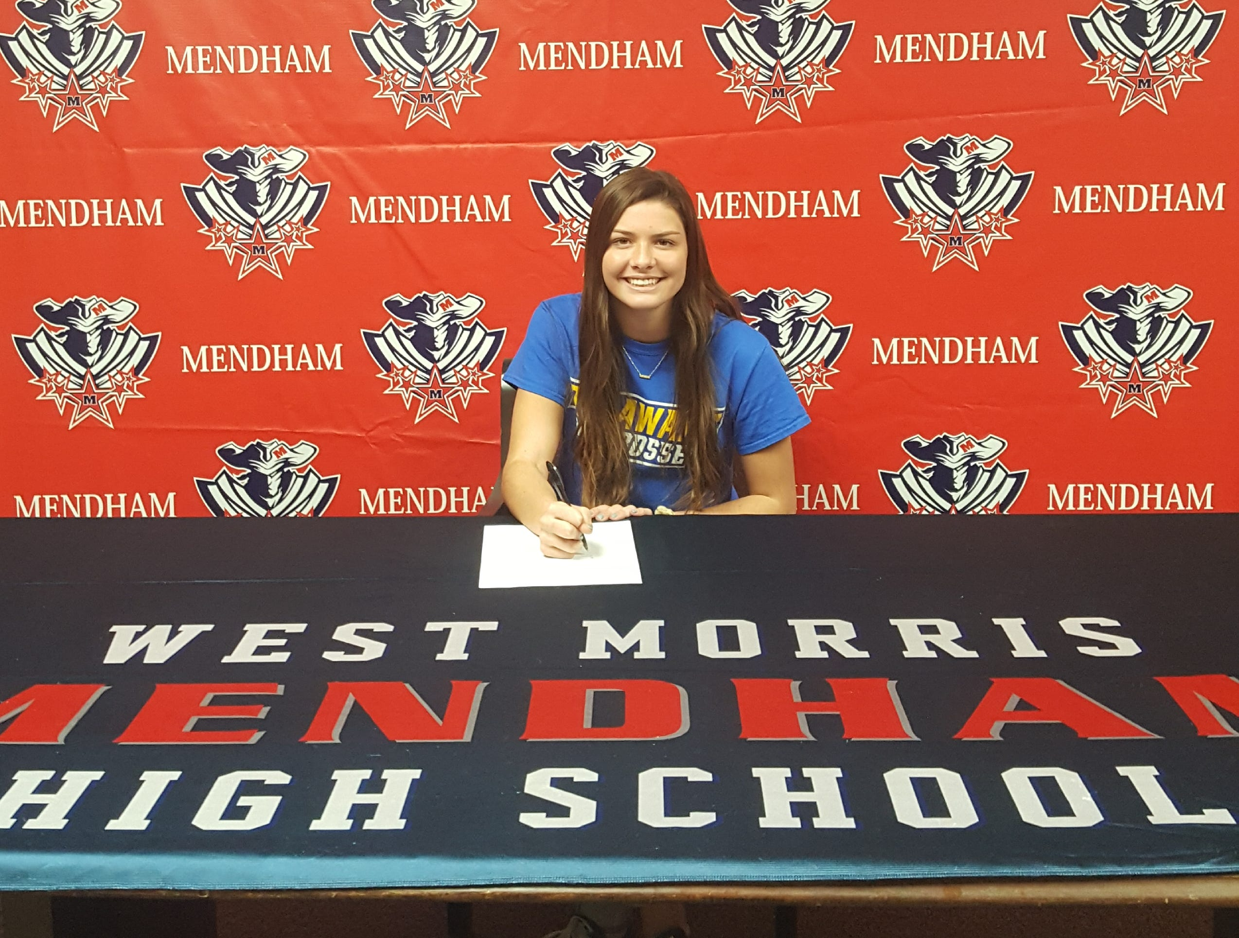 Mendham senior Madison Hranicka has signed a National Letter of Intent with Delaware women's lacrosse.