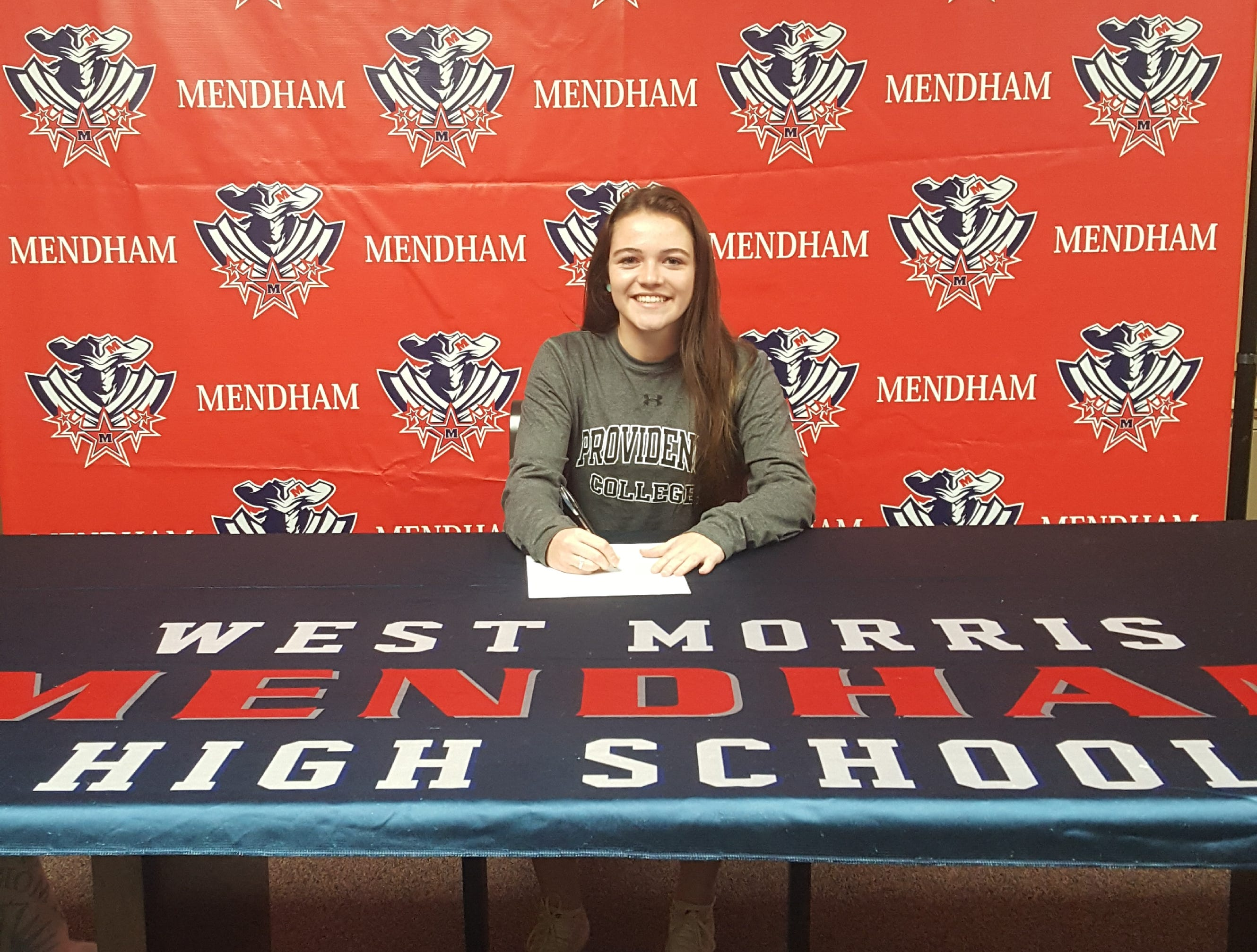 Mendham senior Ava Brandt signed a National Letter of Intent with Providence soccer.