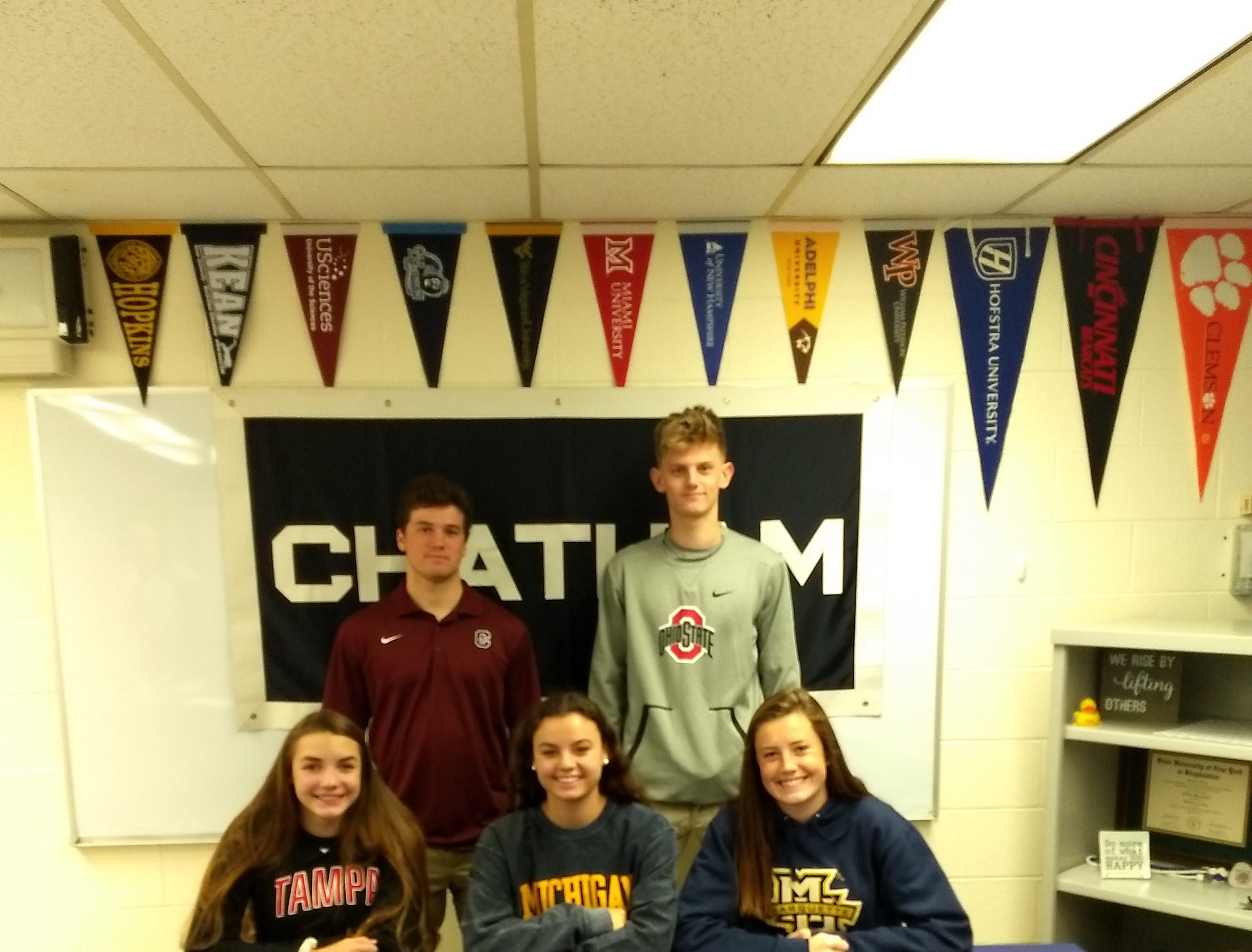 Chatham student-athletes signed National Letters of Intent on Wednesday.