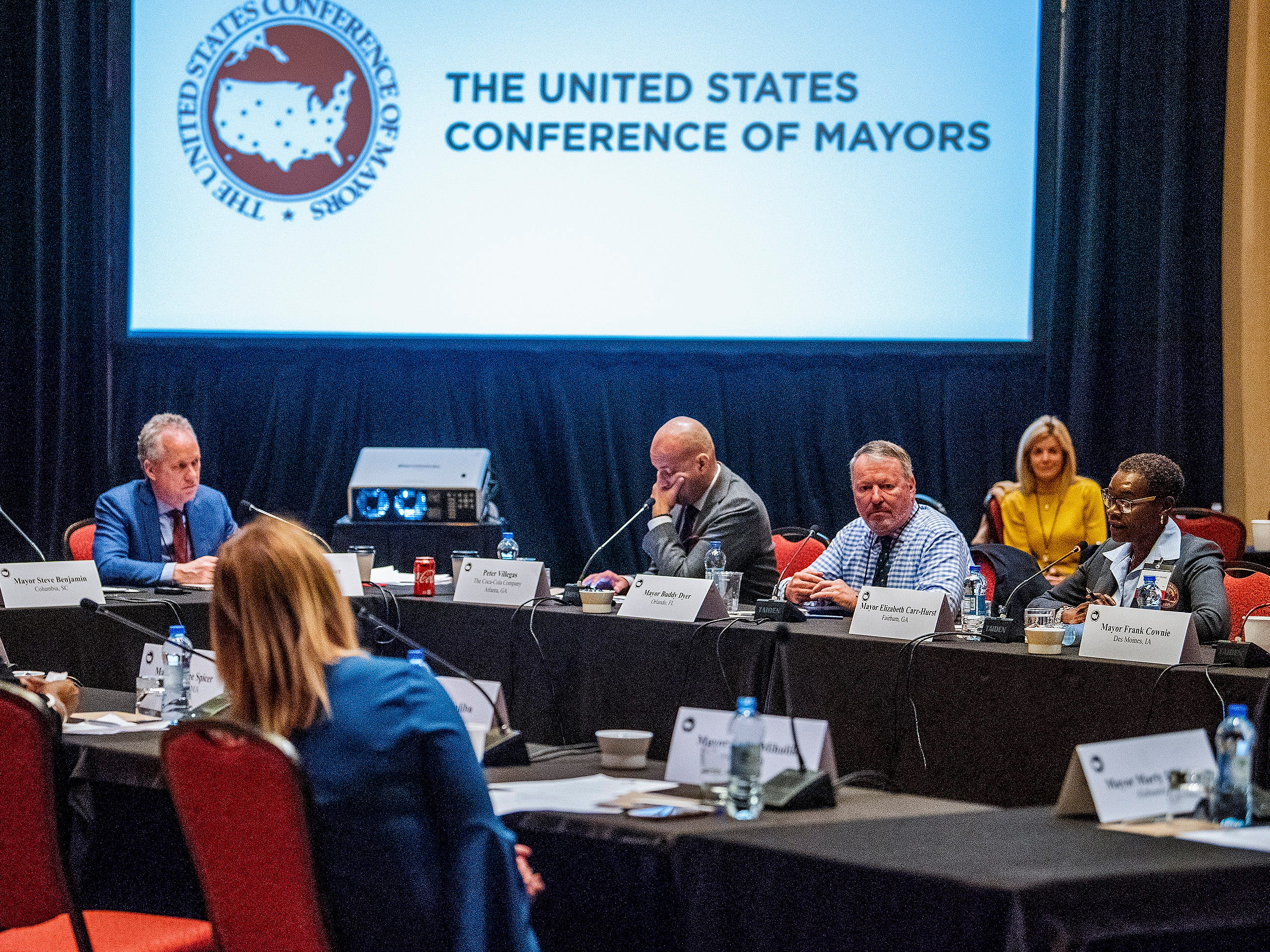 A summit of the U.S. Conference of Mayors meets in Montgomery, Ala., on Wednesday November 14, 2018 to address extremism, bigotry and divisiveness.