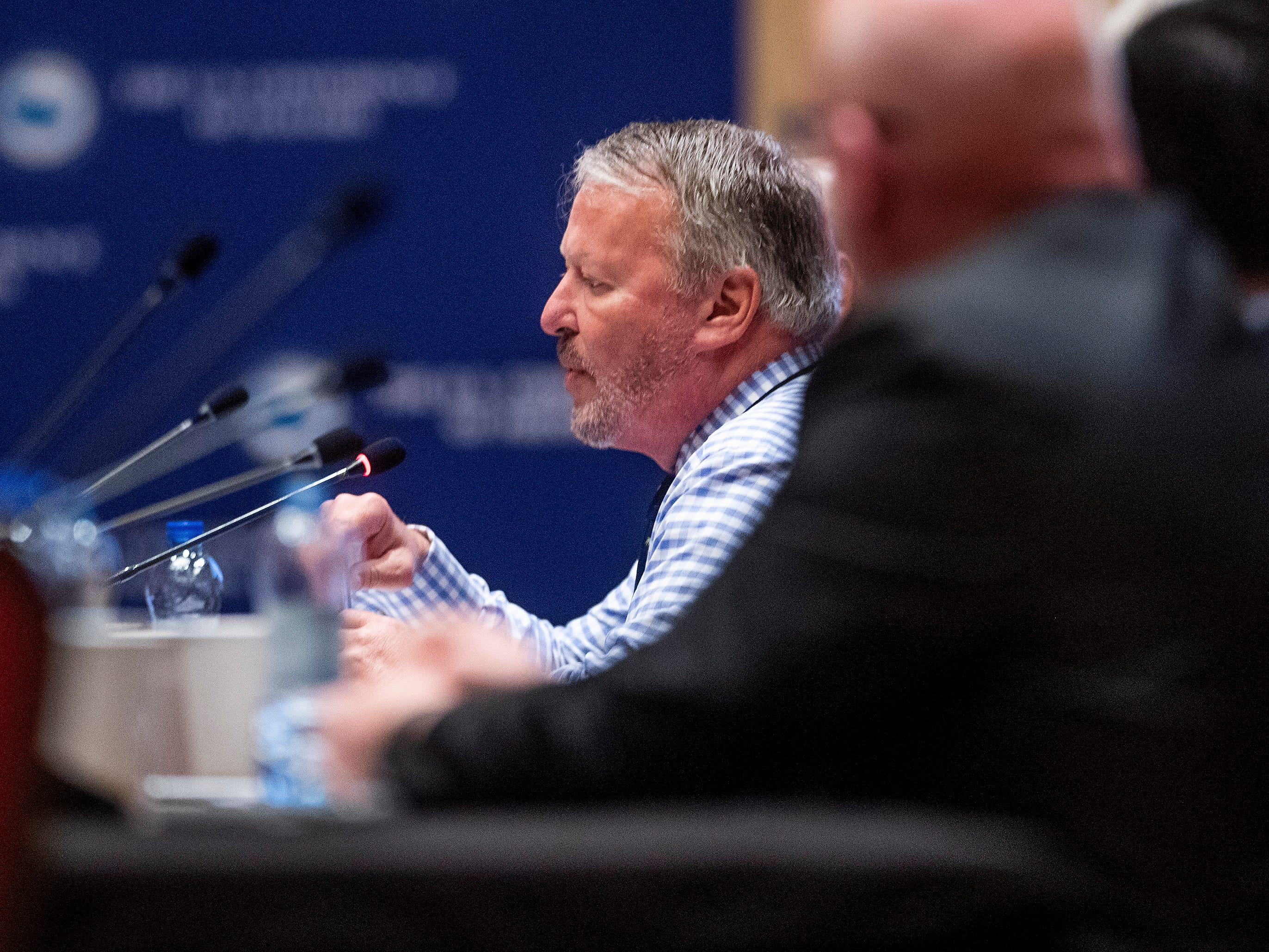 Orlando Mayor Buddy Dyer speaks during a summit of the U.S. Conference of Mayors in Montgomery, Ala., on Wednesday November 14, 2018 to address extremism, bigotry and divisiveness.