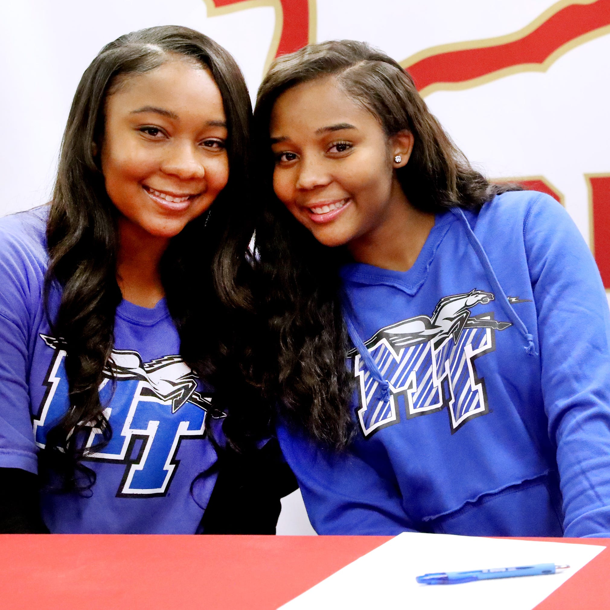 Anastasia Hayes and Aislynn Hayes headline MTSU women's basketball signees