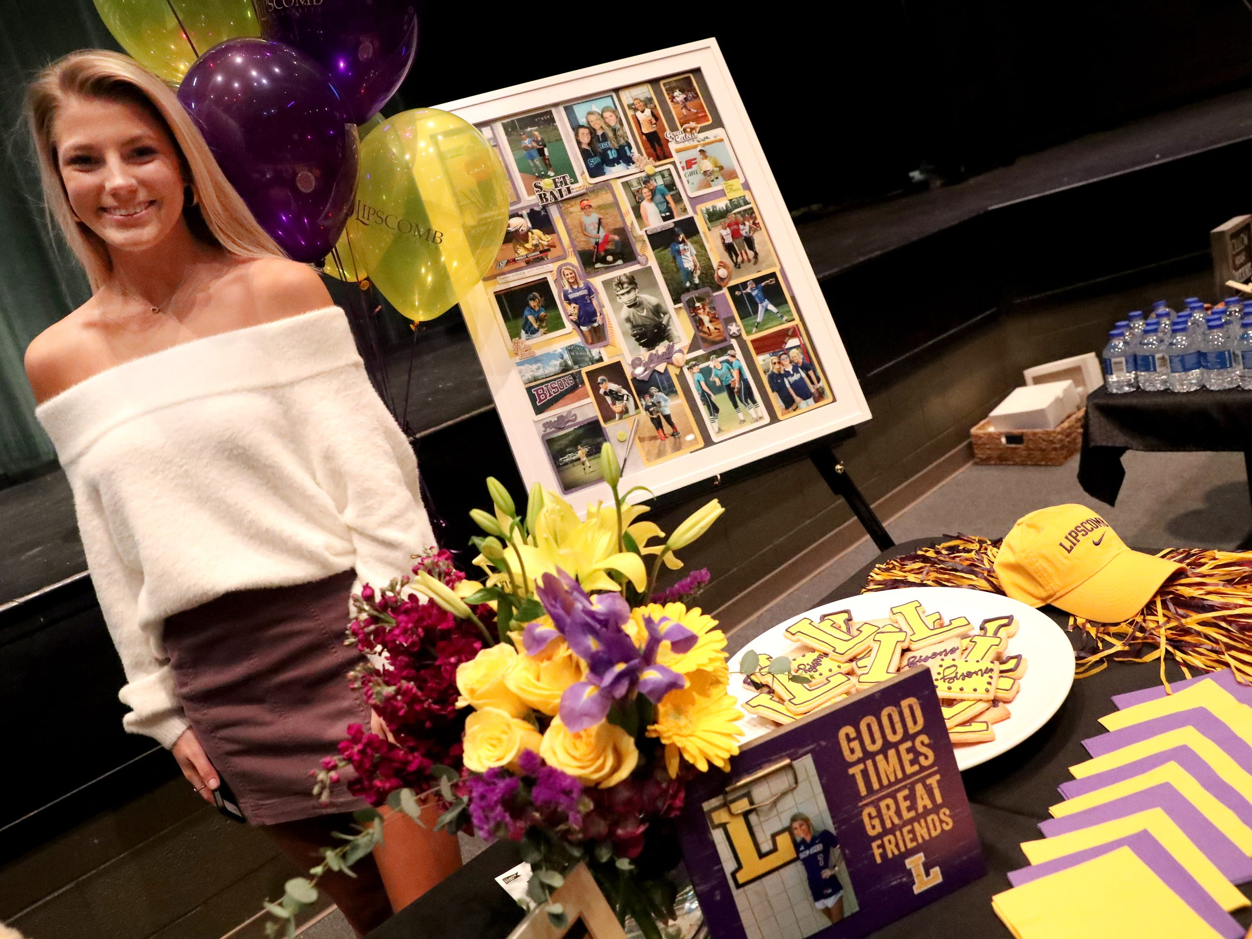 Siegel softball player, Presley Leebrick signed a national letter of intent to play college softball at Lipscomb, on Wednesday, Nov. 14, 2018.