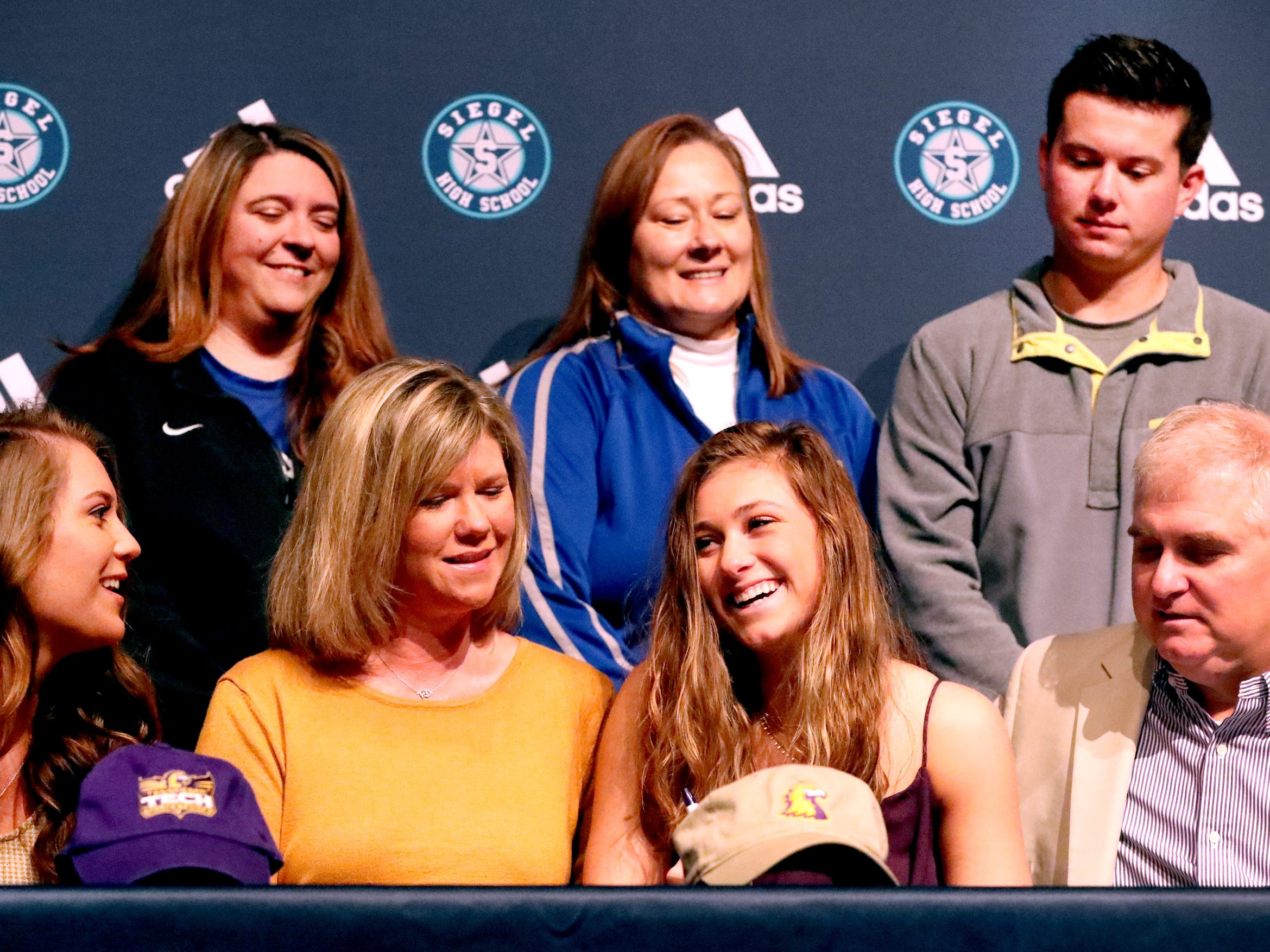 Siegel volleyball player, Julia Wheeler, signed a national letter of intent to play college volleyball at Tennessee Tech, on Wednesday, Nov. 14, 2018.