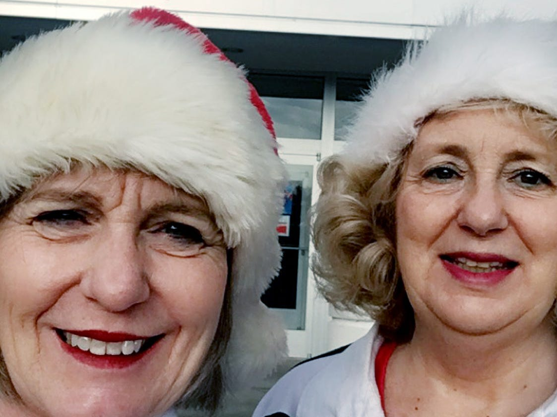 Jacci Rodgers and Marcia Thorpe shop again on a Saturday after Black Friday shopping.