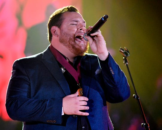 Luke Combs performs at BMI's 2018 Country Music Awards Tuesday Nov. 13, 2018, in Nashville, Tenn.