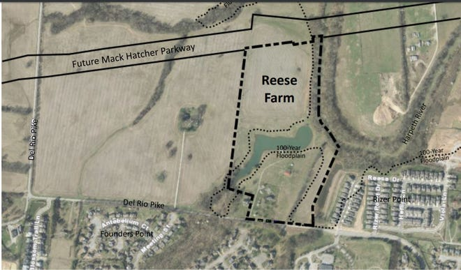 The Reese Farm development would include 144 homes off of Del Rio Pike.