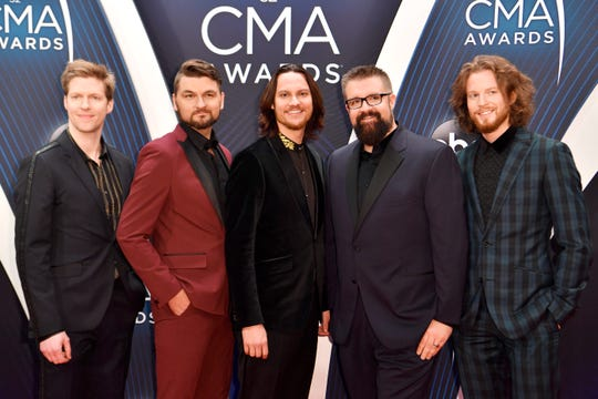 Home Free on the red carpet before the 52nd Annual CMA Awards at Bridgestone Arena Wednesday, Nov. 14, 2018, in Nashville, Tenn.